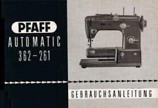 Pfaff 362-261 Nähmaschine Gebrauchsanleitung Gebrauchsanweisung Pdf-FileDownload