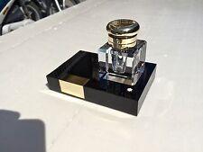 Calamaio cristallo ottone penna Montblanc porta inchiostro stilografica inkwell