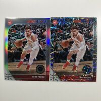 2019-20 NBA Hoops Premium Stock Trae Young Silver Prizm & LAZER Prizm Card HAWKS