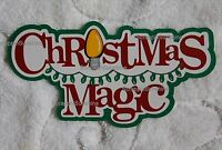 DISNEY CHRISTMAS MAGIC Die Cut Title Scrapbook Paper Piece - SSFFDeb