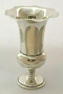 Antique Edwardian Sterling Silver Bud Vase 1905