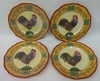 "4 Sakura Sally Eckman Roberts Fairweather Friends Rooster China 9"" Plates"