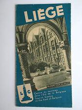 Rare ancien dépliant Brochure Liege