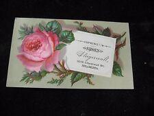 1800's Steigerwalt Spring Shoes Philadelphia PA Floral Victorian Trade Card