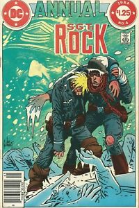 SGT. ROCK ANNUAL #4 DC COMICS 1984 NM- KUBERT COVER! A CANDLE IN HELL!