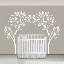 White Tree Wall Sticker Motivation Canopy Living Room Vinyl Kids Removable Decor