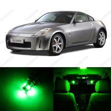 5 x Green LED Interior Light Package For 2003 - 2008 Nissan 350Z