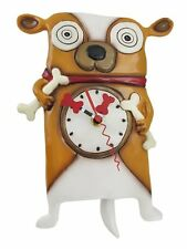 Allen Designs Roofus the Dog Pendulum Childs Kids Whimsical Wall Clock