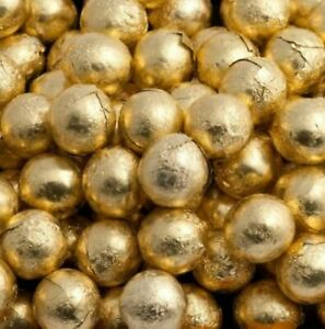 Chocolate Balls Gold Foil Wrapped Wedding Baby Shower Party Favours VEGETARIAN