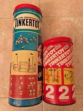 Vintage Tinkertoy Super Transit + Gabriel 2 + 61 extra parts + docs See Photos