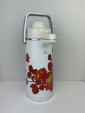 Zojirushi Stainless Steel Vacuum Thermos Hot/Cold Elephant White w Red Flowers