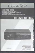 SHARP RT-115H/RT-115E  Original Bedienungsanleitung/User-/Owner`s Manual