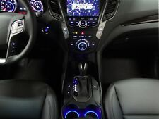 LED Cup Holder Lights -Blue LEDs - Fits 2013-2017 Hyundai Santa Fe Custom Mods