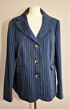 LADIES BODEN JACKET COTTON NAVY STRIPED STITCH NAUTICAL MARITIME CHIC PLUS 20