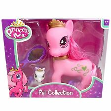 Princess Pony Pals Collection Toy Includes 2 Ponies 1 Brush & 1 Mirror Bundle