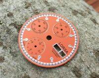 Lorsa orangefarbenes Ziffernblatt für ETA Valjoux 7750 swiss made Uhrwerk - neu