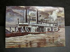 Steel Hull TOWBOAT W. P. SNYDER, Jr Naval Cover unused post card