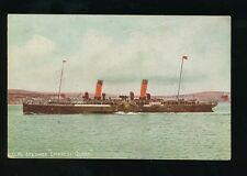Shipping IOM  EMPRESS QUEEN Royal Mail Steamer pre1919 PPC