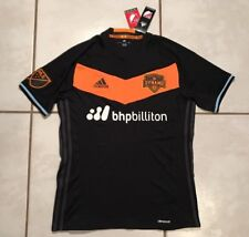NWT ADIDAS Houston Dynamo MLS 2016 BLACK Away Jersey Men's Medium