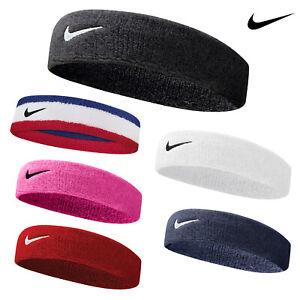 Nike Swoosh Logo Headband (NK282) - Tennis Badminton Workout Athletic Headband