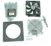 CabCool1201 Single 120mm Fan Cooler Kit Cabinet Home Theater W Thermal Control