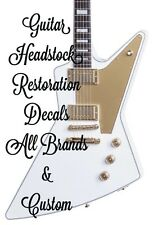 Guitar Restoration Waterslide Foil Or Vinyl Headstock Decals All Brands