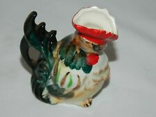 COLORFUL MINIATURE VINTAGE ROOSTER PITCHER –JAPAN