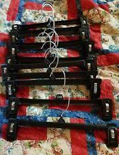 34 Total - 12 Black & 22 White Plastic Clip On Pants Hangers