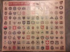 Coats of arms stamp sheet 124 stamps rare