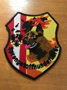 AUSTRIA PATCH POLICE K9 K-9 CANINE SPECIAL BOMB EOD IED TEAM - ORIGINAL!