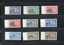 TRISTAN da CUNHA  KGVI 1952 9 DIFFERENT MINT NEVER HINGED  STAMPS