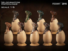 REBOR 1/6 Scale Velociraptor Hatchlings Model Figure dinosaurs - Box of 9
