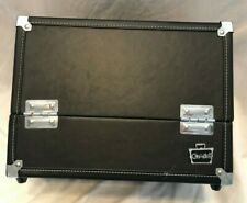 Caboodles Black Hard Train Case Makeup Holder Jewelry/ 4 Trays