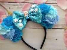 Elsa inspired Frozen Minnie Mouse Ears headband-Disney World-Disneyland