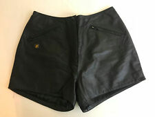 HARLEY DAVIDSON black leather shorts Women's 42/ 14