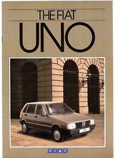 Fiat Uno 1985-87 UK Market Sales Brochure Turbo SL S 70 60 45