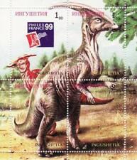 Dinosauri su Francobolli - 4 Francobollo Foglio - 9B-014