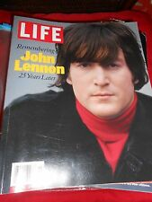 """Great Collectible LIFE Magazine """"Remembering JOHN LENNON 25 Years Later"""""""