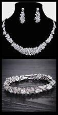 Wedding Bridal Necklace Earring Bracelet Jewellery Set parties,prom,occasionwear
