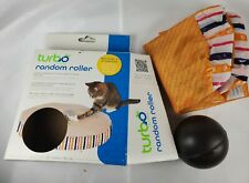 """Turbo 22"""" Random Roller Cat Toy Battery Powered Ball and 22"""" Cover"""
