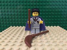 LEGO Harry Potter Minifigure 4706 4709 Purple Cape w/ broom and wand hp036