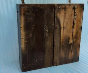 Antique Old Wooden Rare Different Rope Industry Display Cabinet Showcase NH6701