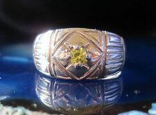 ANELLO citrino quarzo giallo in argento sterling 925 PIETRE DEL SEGNI ZODIACALI