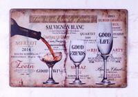 Wine Poster Vintage Metal Tin Signs Shabby Plate Home Pub Bar Wall Decor