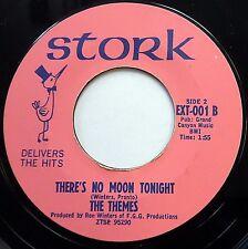 THEMES machine stamped STORK near Mint 45 There's No Moon Tonight / Marnie FM489