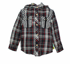 NWT Fore!! Axel and Hudson Boys' Reversible Check Hooded Top ~ Size 5  $58