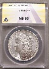 1901-O MORGAN SILVER DOLLAR ** ANACS MS-63 **