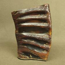 "5.4""BIG STUNNING CHINESE OLD OX HORN CARVING BRUSH POT"