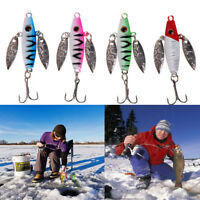Metal Ice Fishing Bait Spinner Lure Lead Fish Minnow Jigging Fishing Lures.~
