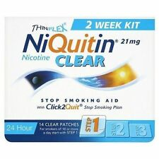 NiQuitin Clear 21 mg Step 1 Stop Smoking Nicotine 2 Week Kit 14 Patches